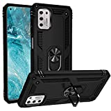 【G Stylus Case】 PHONE COVER for Moto G Stylus Case 2021 (Not Fit G Stylus 2020) [Military Grade Case] 16 Feet. Drop-Tested 360° Barrier-Free Rotating Bracket and Magnetic Car Function (Black)