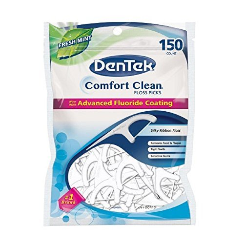 "Dentek ""Comfort Clean"", Zahnseidestocher, Cool Mint, 150 EA"