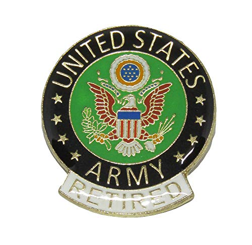 Wholesale Pack of 6 United States Army RETIRED Flag Hat Cap lapel Pin