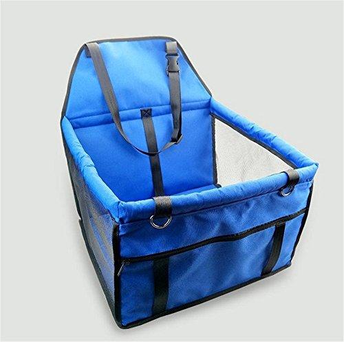 Hollwald 40×30×25cm Sac Pet Voyage Sécurité Pet Ceinture pour Siège Auto Rehausseur Tapis de Coussin pour chien Fournitures d'Epaisseur Imperméable(Multicolore) (bleu)