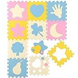 LittleTom Baby Puzzlematte Ab Null Kinder Spielmatte Krabbelmatte Pastell Motive