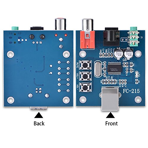 5V MP3 micro USB power geluidskaart decoder board decoder speler module met audio versterker, digitale voice recorder board USB input/coax/fiber/analoge output