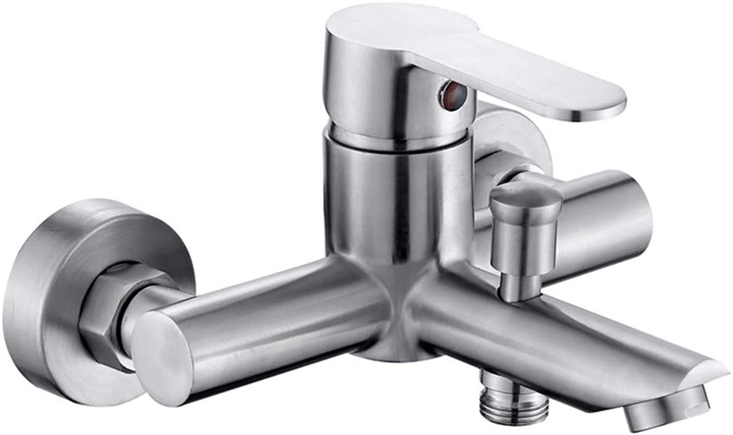 LHY BATHLEADER Shower Faucet Bathtub Faucet, Contemporary Brushed Tub And Shower Ceramic Valve Bath Shower Mixer Taps Single Handle Two Holes