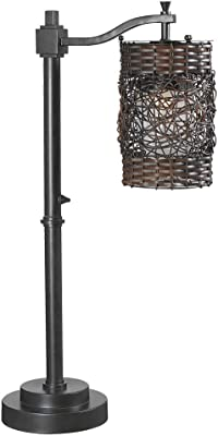Kenroy Home 32143ORB Brent Outdoor Lamp, Table, Oil Rubbed Bronze Finish