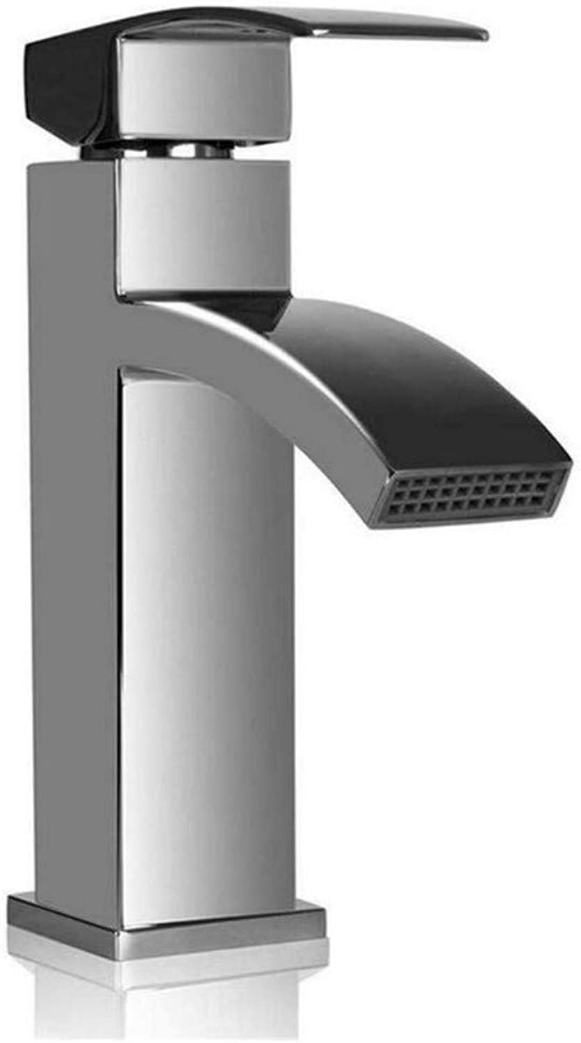 Modern Double Basin Sink Hot and Cold Water Faucet Taps Mixer Tap Single Handle Faucet Bathroom