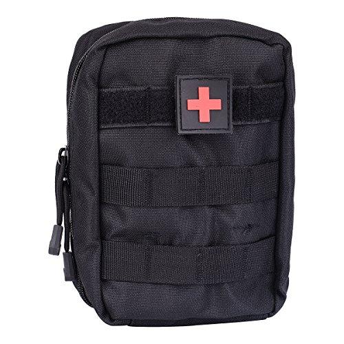 1 pochette tactique utilitaire en molle (sac uniquement) - Pour premiers soins médicaux EMT - Pour explosion - IFAK - Couleurs optionnelles, Noir