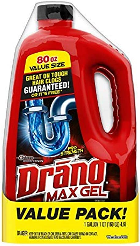 Drano Max Gel Clog Remover 80 Fl Oz 2 Count