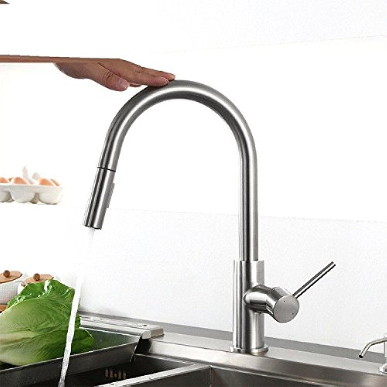 Lalaky Waschtischarmaturen Wasserhahn Waschbecken Spültisch Küchenarmatur Spültischarmatur Spülbecken Mischbatterie Waschtischarmatur Berühren Sie Ziehen