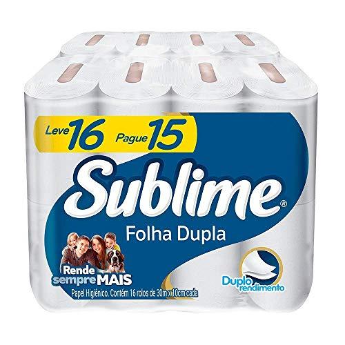 Papel Higiênico Sublime Folha Dupla, 16 rolos