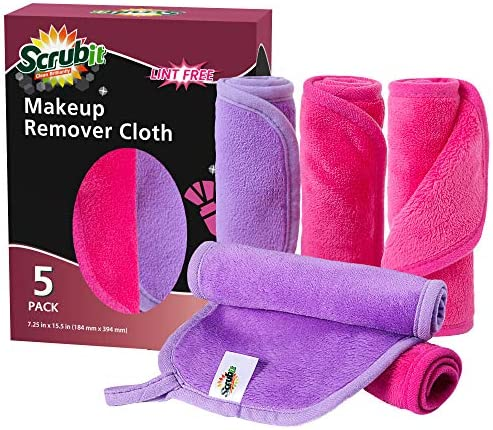 SCRUBIT Makeup Remover Cloth Microfiber Cleansing Towel for All Types of Skin Eco Friendly and product image