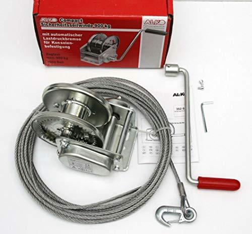p4U ALKO Seilwinde Typ 900 Compact Anhänger Handwinde Handseilwinde mit Seil + Haken AL-KO 900kg 900 kg 1210654
