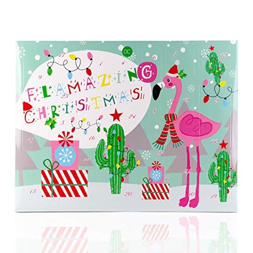 Accentra Beauty Adventskalender Flamingo - Weihnachtskalender für Frauen und Mädchen Kosmetik Inhalt: Body Lotion, Badekugeln, Seife, Badesalz uvw. Wellness