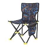 HBOY Silla de pesca al aire libre Bolsa de almacenamiento plegable taburete ultraligero barbacoa silla plegable fácil llevar pesca playa herramienta silla taburete, azul