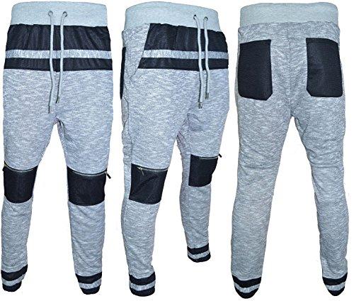 Soul Star - Pantalon de Sport - Homme Bleu Bleu L - Gris - Large