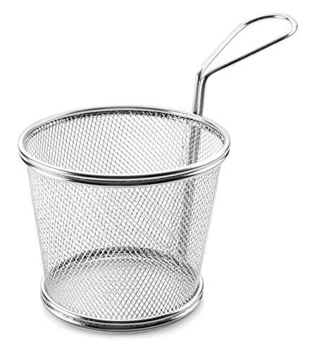 LACOR Frittierkorb rund, Edelstahl, Grau, 12cm