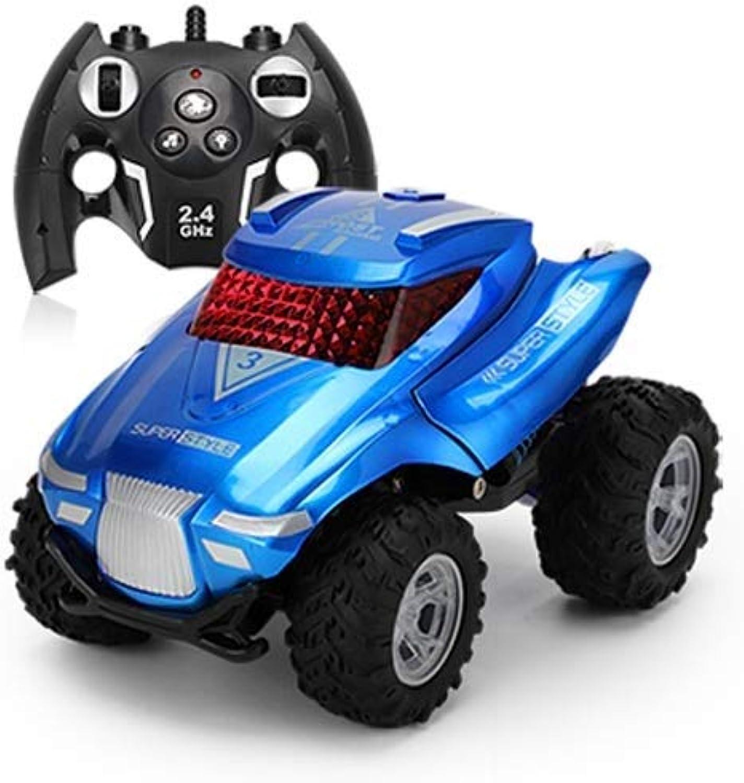 IBalody Hohe Qualitt Lade Drahtlose Fernbedienung Auto Spielzeug 360 ° Crash Resistant Dump Truck Tumbler Stunt RC Auto Pdagogische Geschenke für Kinder 6+ (Farbe   Blau, Gre   1-Battery)