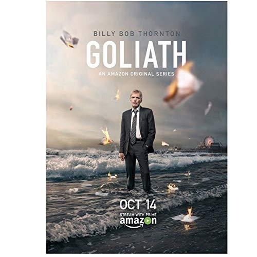 ad Poster e Stampe Goliath Hot Billy Bob Thornton Serie TV Art Poster Tela Pittura Decorazioni per la casa-60x80cm Senza Cornice