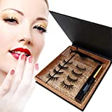 BeboBeauty® Magnetische Wimpern, Magnetischer Eyeliner, Künstliche Magnet Wimpern mit Eyeliner 10ml, Dermatologisch getestet