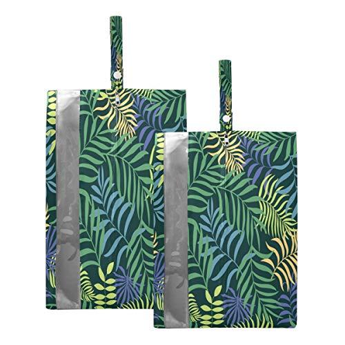 Mnsruu Bolsa organizadora de zapatos para hombre y mujer, diseño de palmera tropical, tamaño estándar: 23 x 38 cm, tamaño XL: 23 x 43 cm