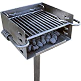 Titan Attachments Outdoor Park-Style Charcoal Grill for Camping and Cookouts, BBQ Accessories