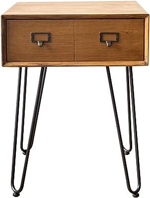Festnight Table de Chevet en Bois Coffres de Rangement Style Vintage Blanc 40 x 30 x 57 CM