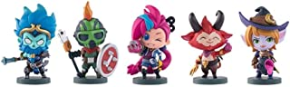 CQ LOL pop Figures: All Hallows' Day Series 5Pcs Figurine PVC Model Gift for Game Fans from Dolls Around LOL Game/ Home Decoration Bedroom Artwork Collectible Model Toy 9CM Toys