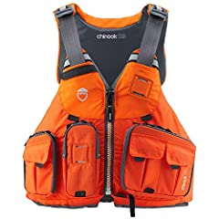 USCG Approved: type III Flotation / Buoyancy: 16.5lb Closure: zippered front entry, Pockets: 6 front Claimed Weight: 2lb