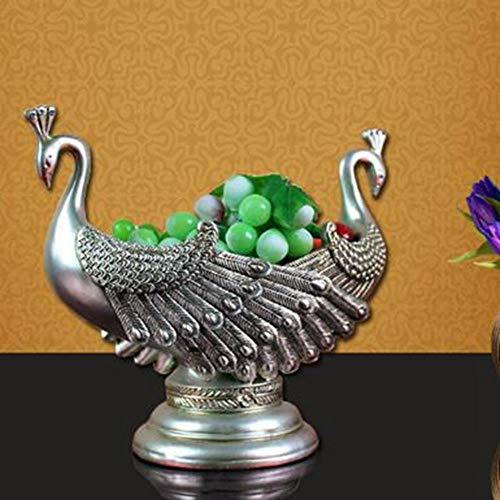 nxychunmei Einfache Moderne Wohnzimmer Tischdekoration Aus Hochwertigem Harz Sind Phoenix Obstteller Dekoration Heimtextilien