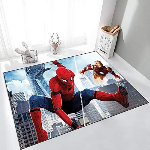 W-life Salon Grand Tapis Salle Enfants Petits Tapis Spiderman Enfants Chambre Tapis 3D Imprimer Salle De Bain Cuisine Tapis Antidérapant Paillassons (Color : 01, Size : 60 * 90cm)