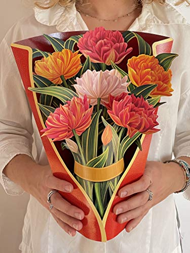 Forever Flowers: Earth Friendly, Pop-Up Standing Bouquet by FreshCut Paper - Murillo Tulips