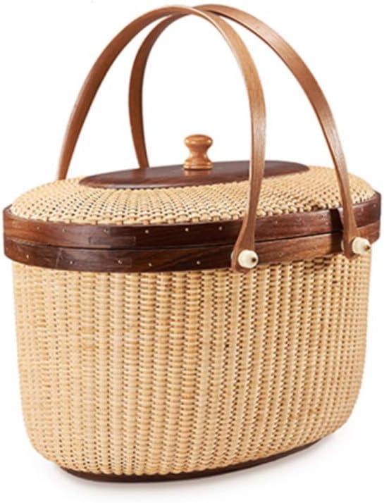 LIUTIAN specialty shop service Rattan Picnic Basket Storage Shopping Stor