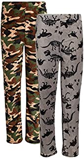 Image of 2 Pack Camo / Camoflauge and Dinosaur Pajama Pants for Boys - See More Designs