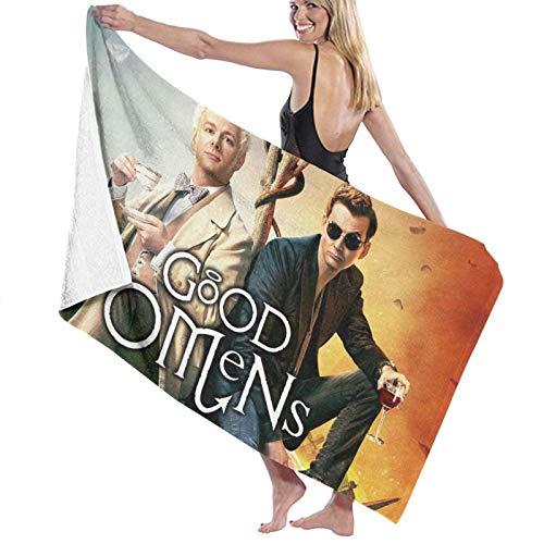 Good-Omens - Toallas de baño superabsorbentes para hombre, mujer, adolescentes, multiusos, para yoga, baño, hotel, gimnasio, spa, 81.5 x 127.2 cm
