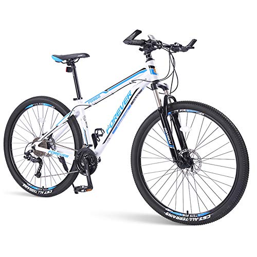 NENGGE Portátil Bicicleta Montaña 33 Velocidades Hombre Mujer, Profesional Adulto Hard Tail MTB Ciclismo, Doble Freno Disco Doble Susp, Unisex,Azul,29 Inches