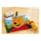 Vervaco–Kit para cojín de Winnie The Pooh Alfombra de Ganchillo Kit, Multicolor
