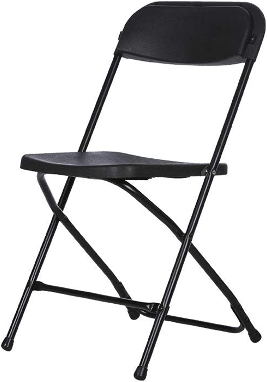 YCSD Plastic Folding Chair, Business Conference Chair Leisure Chair Computer Chair Dining Chair Office Conference Chair Staff Chair (color   Black)
