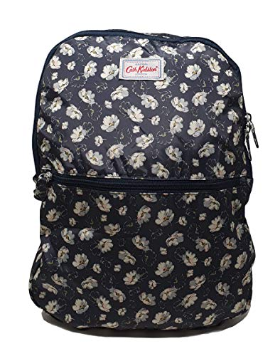 Cath Kidston Foldaway Lightweight Backpack - Falling Cosmos/Soft Black