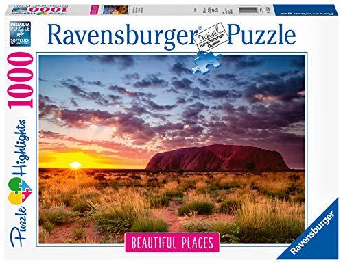 Ravensburger Puzzle, Puzzle 1000 Pezzi, Uluru – Ayers Rock, Puzzle per Adulti, Collezione Beautiful Places, Puzzle Paesaggi, Puzzle Ravensburger - Stampa di Alta Qualità