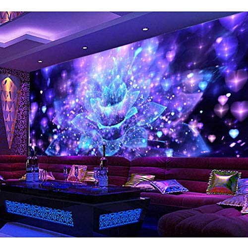 Cool Night Club Flower Bar KTV Gereedschap muur 3D Wallpaper Mural, Hotel Wallpaper Restaurant Beste muurschildering 280 cm (B) x 180 cm (H) (9'2 ''x5'11'') ft
