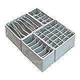 ZNQPLF Juego de Cajas de Almacenamiento para artículos de Almacenamiento de Ropa para Ropa Interior de Caja separada 886 (Color : Grays Set 4 Pcs)
