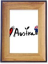 DIYthinker I Love Australia World Flag Heart Photo Frame Desktop Display Picture Art Painting Holder