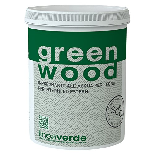 LINVEA GREEN WOOD VERNICE PER LEGNO PARQUET A BASE ACQUA 0,75 LT (NOCE SCURO)
