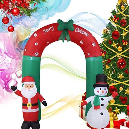 decorazioni natalizie da esterno GPMBHNV 8ft Gonfiabili Decorazioni di Natale Arco