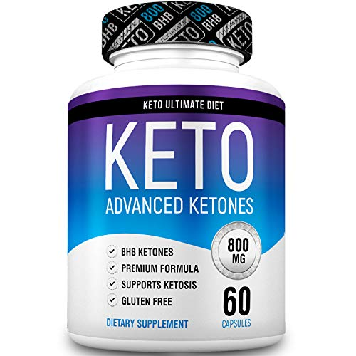 Keto Ultimate Diet - Ketogenic Diet Supplement with Beta Hydroxybutyrate Ketone Salts - Boost Energy and Metabolism - Keto Pills 60Caps