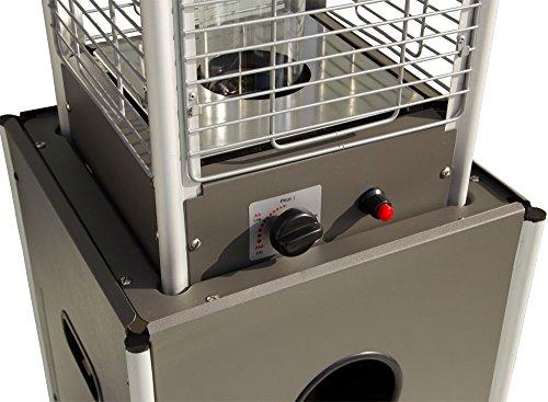 Beach & Pool Terrassenheizer VIDRO Heizpilz mit Glasröhre und außergewöhnlichem Design, CE-zertifizierter Gasheizer, Premium Qualität, Heizstrahler Gasheizstrahler Gas (anthrazit) - 2
