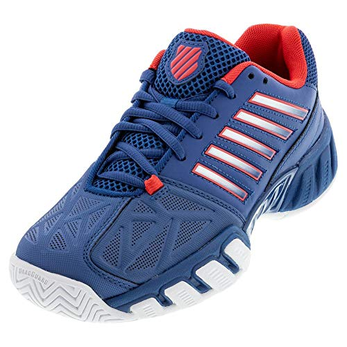 K-Swiss Women's Bigshot Light 3 Tennis Shoe (White/Aruba Blue, 5)