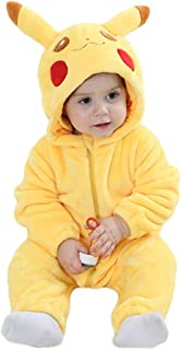 f276e4ada Unisex Baby Flannel Romper Animal Onesie Costume Hooded Cartoon Outfit Suit