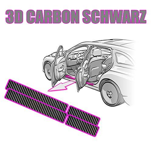 GOLF 5 Einstiegsleisten + Rakel + Anleitung Lackschutzfolie 3D CARBON SCHWARZ Folie - passend für GOLF 5 5 Türer -– Schutzfolie von CCW