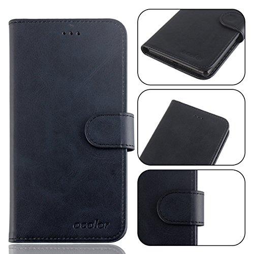 95Street Handyhülle für Ulefone S1 Schutzhülle Book Hülle für Ulefone S1, Hülle Klapphülle Tasche im Retro Design mit Praktischer Aufstellfunktion - Etui Schwarz