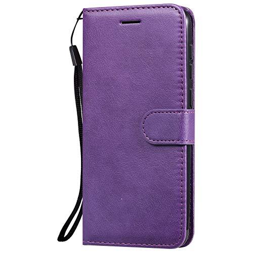Hülle für Vivo V11/V11 Pro/V11i/Y97 Hülle Handyhülle [Standfunktion] [Kartenfach] Tasche Flip Hülle Cover Etui Schutzhülle lederhülle flip case für Vivo V11 Pro - DEKT051781 Violett